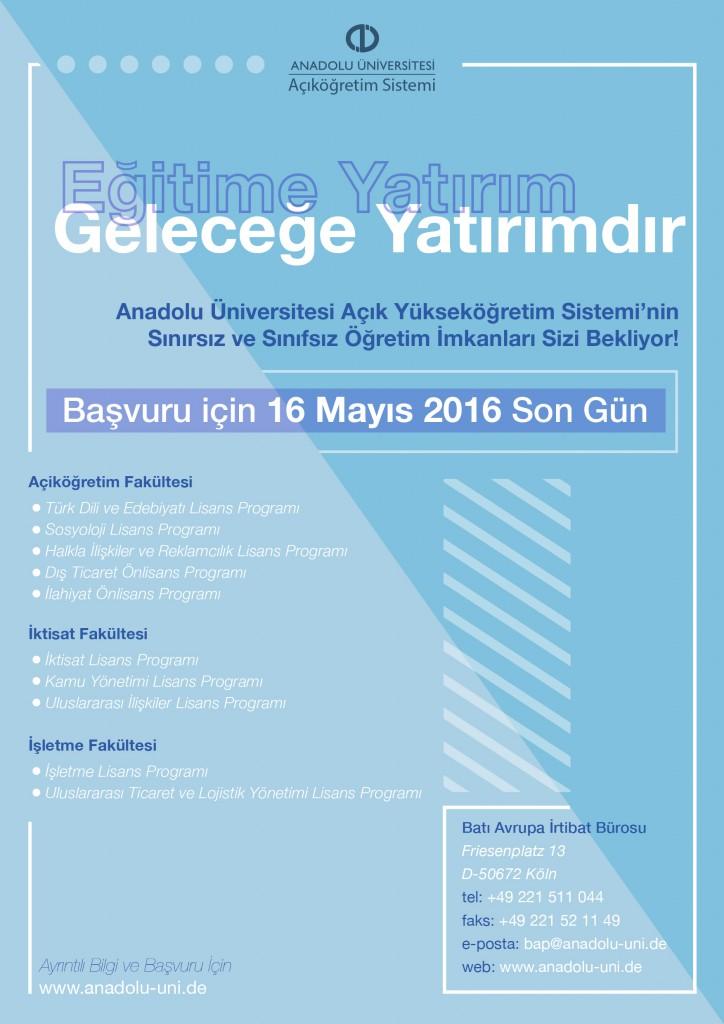 Açıköğretimle Sizde Üniversiteli Olun: Pforzheim, Mühlacker, Bretten, Bruchsal, Karlsruhe, Rastatt, Gaggenau bölgelerinde Türkçe haber yapan tek haber sitesi