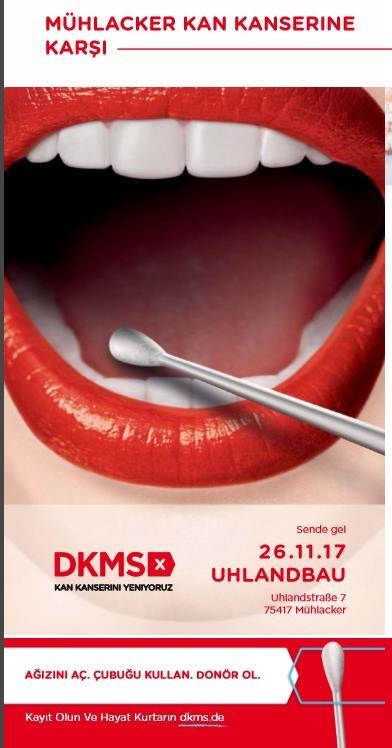 Kan Kanserine karşı Mücadele: Pforzheim, Mühlacker, Bretten, Bruchsal, Karlsruhe, Rastatt, Gaggenau bölgelerinde Türkçe haber yapan tek haber sitesi