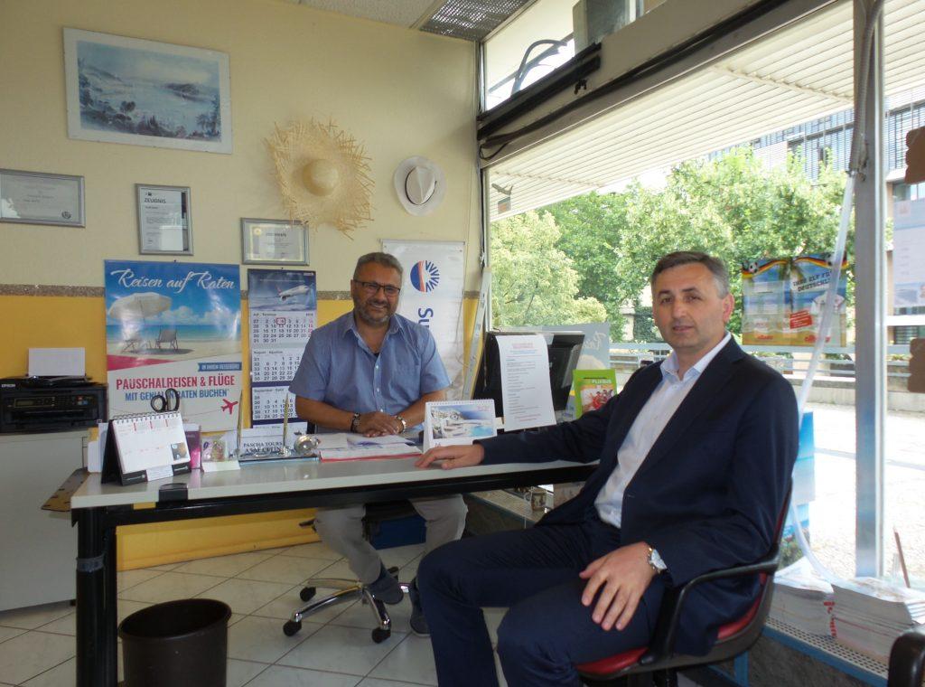 Çalışma Ataşesi esnafı ziyaret etti:Pforzheim, Mühlacker, Bretten, Bruchsal, Karlsruhe, Rastatt, Gaggenau bölgelerinde Türkçe haber yapan tek haber sitesi