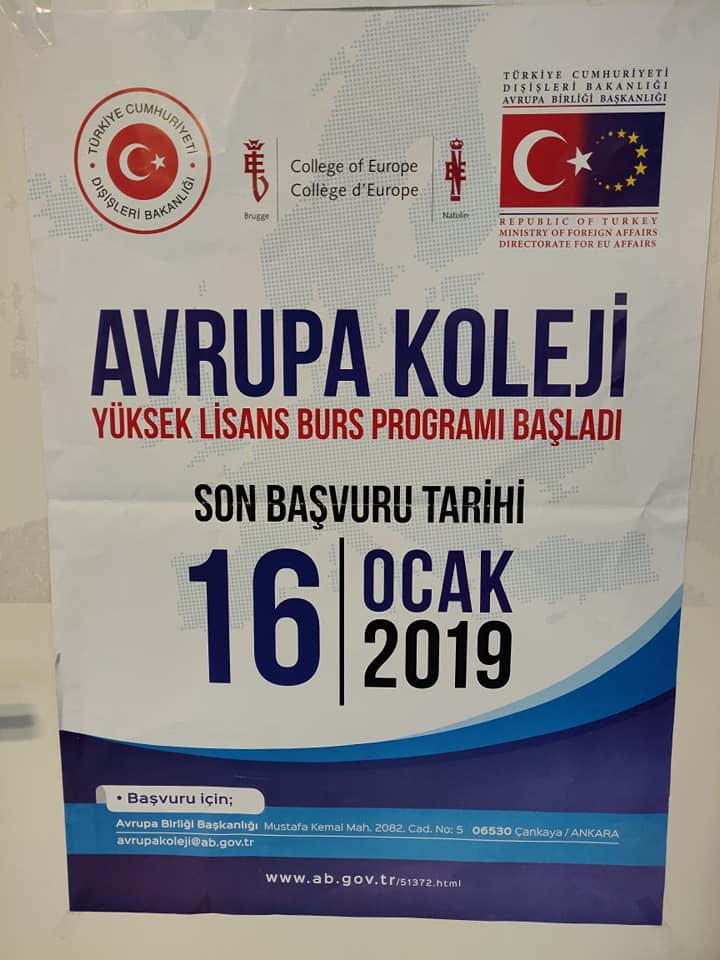 Avrupa Koleji Yüksek Lisans Bursu başlıyoru:Pforzheim, Mühlacker, Bretten, Bruchsal, Karlsruhe, Rastatt, Gaggenau bölgelerinde Türkçe haber yapan tek haber sitesi