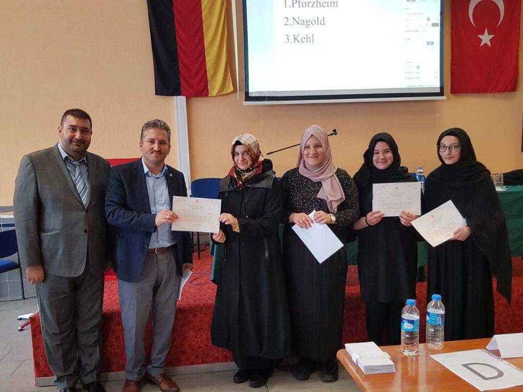 Temel Dini Bilgiler Ataşelik Finali yapıldı:Pforzheim, Mühlacker, Bretten, Bruchsal, Karlsruhe, Rastatt, Gaggenau bölgelerinde Türkçe haber yapan tek haber sitesi