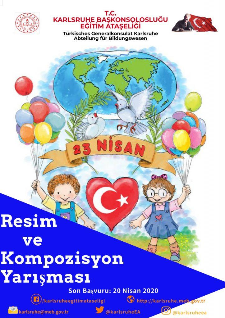 23 Nisan çocuk bayramı resim yarışması:Pforzheim, Mühlacker, Bretten, Bruchsal, Karlsruhe, Rastatt, Gaggenau bölgelerinde Türkçe haber yapan tek haber sitesi